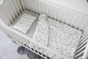 Lenjerie de pat pentru copii Tiny Star Fern 100 x 75 cm