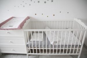 Lenjerie de pat pentru copii Tiny Star Love 100 x 75 cm