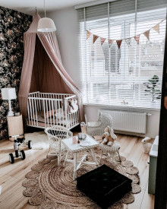 Patut Bebe Din Lemn de Pin Woodies Dream 120 x 60 cm, Chic, Confortabil si Sigur Pentru Micut