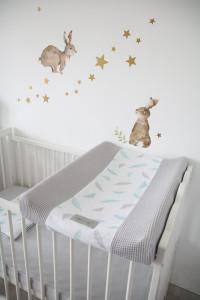 Tiny Star - Husa Pentru Salteaua De Infasat, Plumes, 50 cm x 70 cm