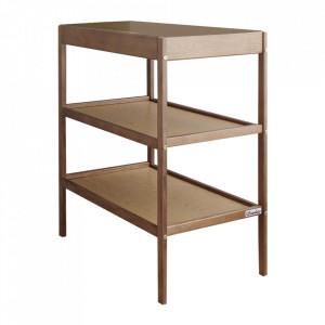 Woodies - Masa de Schimbat Pentru Bebelusi Classic Changer Lemn Masiv, 76cm x 44cm x 86 cm, Cu 2 Rafturi De Depozitare Inalte