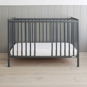 Woodies Stardust Antracit - Patut Bebe Din Lemn Masiv, 120 cm x 60 cm, Design Impunator, Confortabil, Rezistent, 4