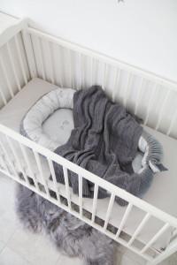 Babynest Mist & Steel Cuib Pentru Bebelusi, Ajustabil, Portabil, Reductor Patut, Tiny Star