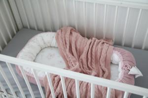 Babynest Tiny Star Love&Rosy, cuib pentru bebelusi, ajustabil, portabil, reductor patut