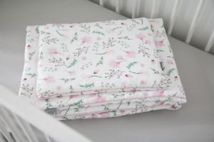 Lenjerie de pat pentru copii Tiny Star Floral 100 x 75 cm