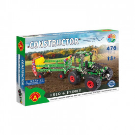 Set constructie 476 piese metalice Constructor-Fred & Stinky, +8 ani Alexander