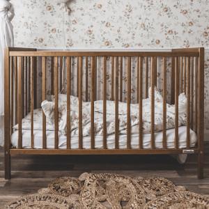 Woodies Stardust Vintage - Patut Bebe Din Lemn Masiv, 120 cm x 60 cm, Design Impunator, Confortabil, Rezistent