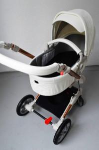 Carucior Copii Hot Mom 360 Alb 2 in 1, varsta intre 0 si 3 ani, Cadru, Landou, Modul Sport si Accesorii