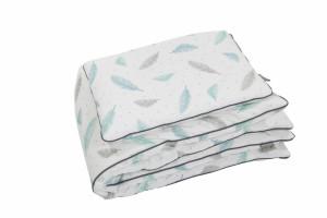 Lenjerie de pat pentru copii Tiny Star Plumes 100 x 75 cm