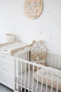 Tiny Star - Husa Pentru Salteaua De Infasat, Grain & Ivory , 50 cm x 70 cm