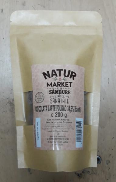 Poze Ciocolată lapte Folkao 34.5% (bănuți) 200g