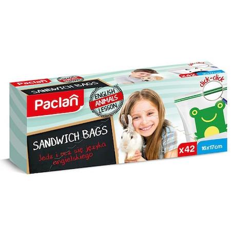 Poze Pungi alimentare cu inchidere fermoar, Sandwich Bags 42 buc