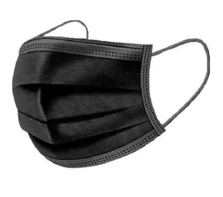 Poze SET 50 bucăți maști faciale negre, de unică folosință, 3 straturi