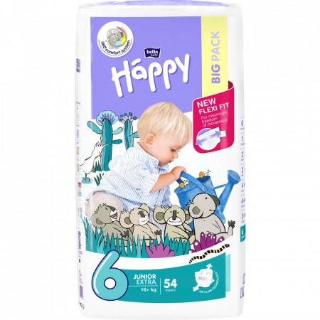 Poze Scutece Happy Junior Extra 6, +16 kg, 54 buc
