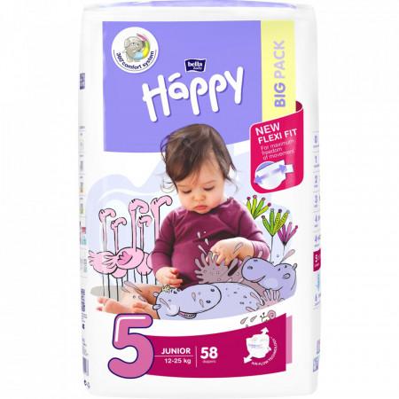 Poze Scutece Happy Junior 5, 12-25 kg, 58 buc