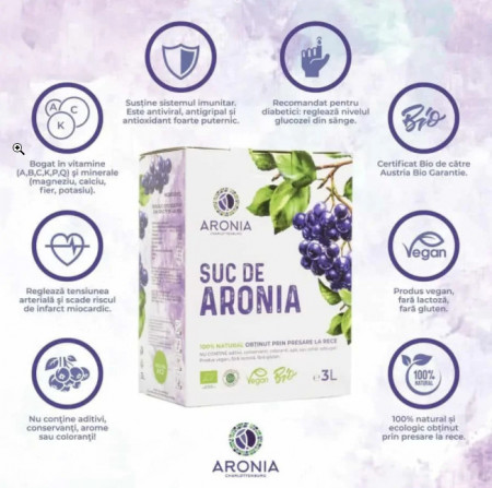 Poze Suc Aronia 3L 100% Natural ECO