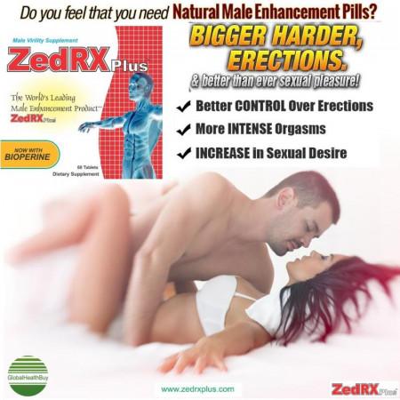ZedRX Plus™ - Penis Enlargement Pills - One Box - 60 Tablets