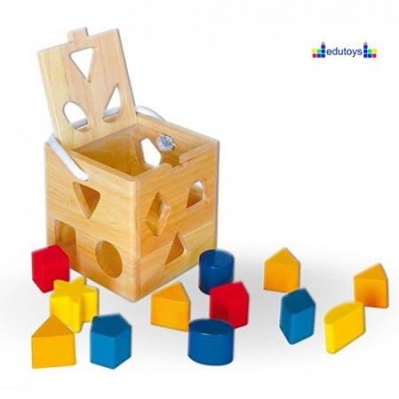 EDU drvena kocka umetaljka 13 elemenata