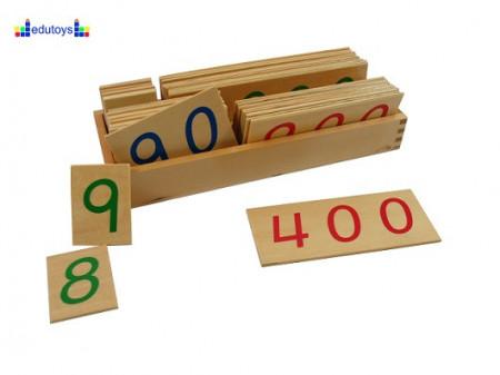 Montesori Drvene numeričke pločice 1-9000 veće sa drvenom kutijom