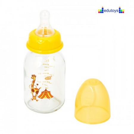 Staklena flašica CIRKUS ŽIRAFA 120 ml silikonska cucla