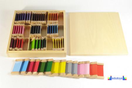 Montesori Drvene pločice u boji 9 odeljaka po 7 pločica