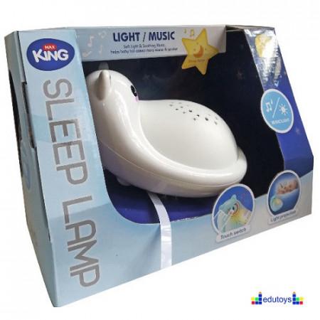 Bebi muzička noćna lampa BELA