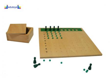 Montesori Abakus ploča računaljka sa kuglicom (perlicom) i piunima