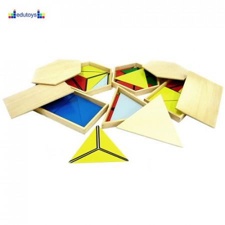 Montesori Konstruktivni trouglovi u drvenim kutijama