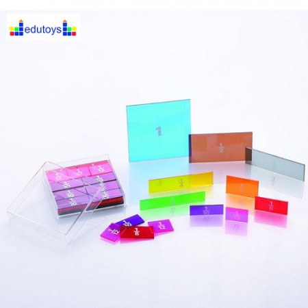 Razlomci i boje pravougaonik 51 element