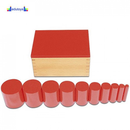 Montesori Kutija sa cilindrom crvena 1 kriterijum
