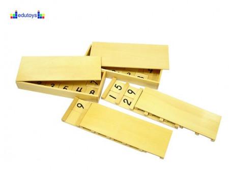 Montesori Seguinove ploče sa brojevima 1-9
