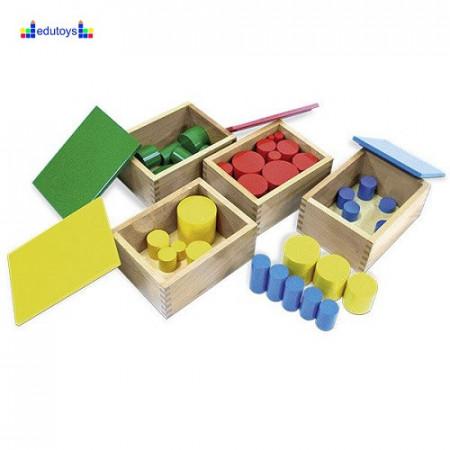 Montesori Kutije sa cilindrima 4 kutije po 10 cilindara
