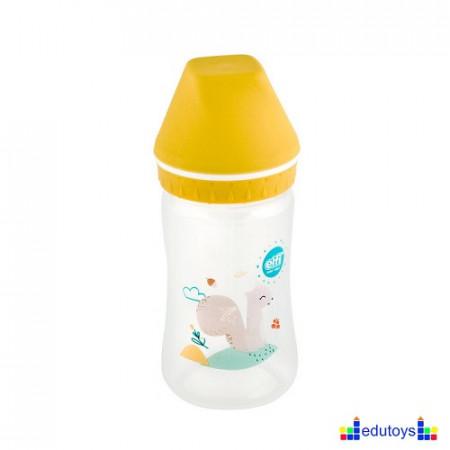 Plastična flašica USPAVANA ŠUMA sa širokim grlom žuta 250 ML silikon