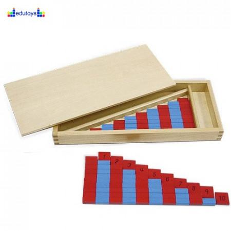 Montesori Mali aritmetički štapovi dvobojni drveni