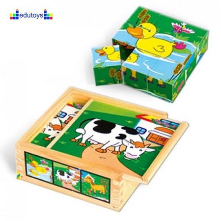 Puzzle - drvene kocke selo