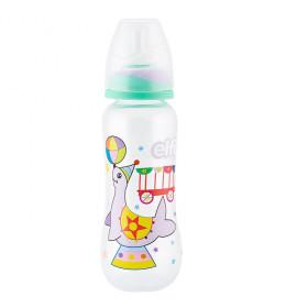"Plastična flašica SUPER CLEAR ""CIRCUS"" (foka)250 ml (silikonska cucla"