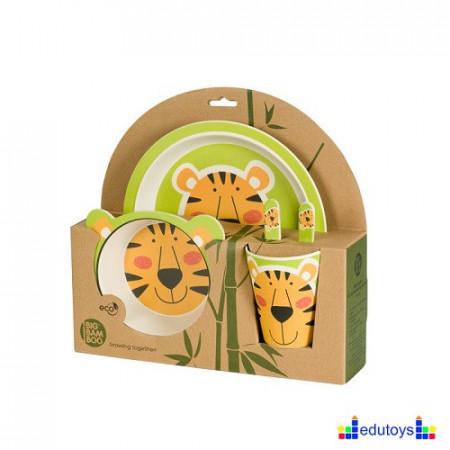 Set od bambusa za hranjenje TIGAR (5 delova)