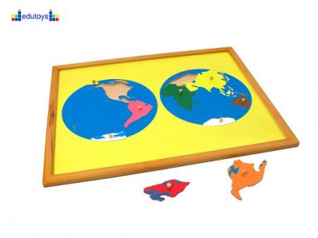 Montesori Puzzla svet umetaljka i puzzla