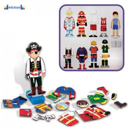 Obuci dečaka magnetni drveni set 36 elemenata