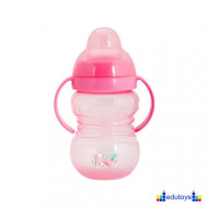 Šolja FUN IN THE PARK sa silikonskim piskom 275 ml pink