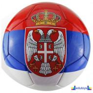Fudbalska lopta sa grbom Srbije
