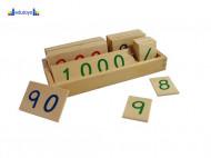 Montesori Drvene numeričke pločice 1-3000 manje sa drvenom kutijom
