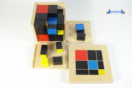 Montesori Kocka 3x3 27 drvenih delova