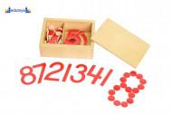 Montesori Matematičko upoređivanje brojevi i žetoni kutija sa dve pregrade