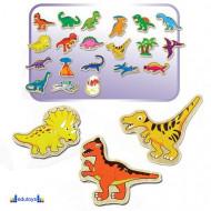 Magneti dinosaurusi 20 figura