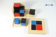 Montesori Kocka 2x2 8 drvenih delova
