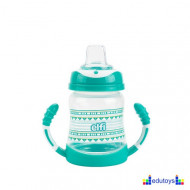 Šolja TRENDY BABY sa silikonskim piskom 275 ml zelena