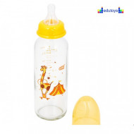 Staklena flašica CIRKUS 240 ml silikonska cucla