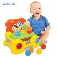 Baby stolica + 10 soft kocki
