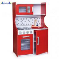 Drvena kuhinja MODERN - crvena